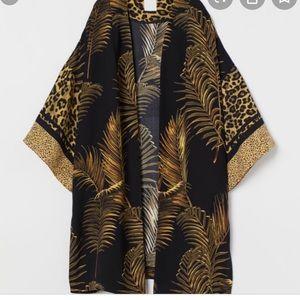 HM Printed Palm and Leopard Kimono